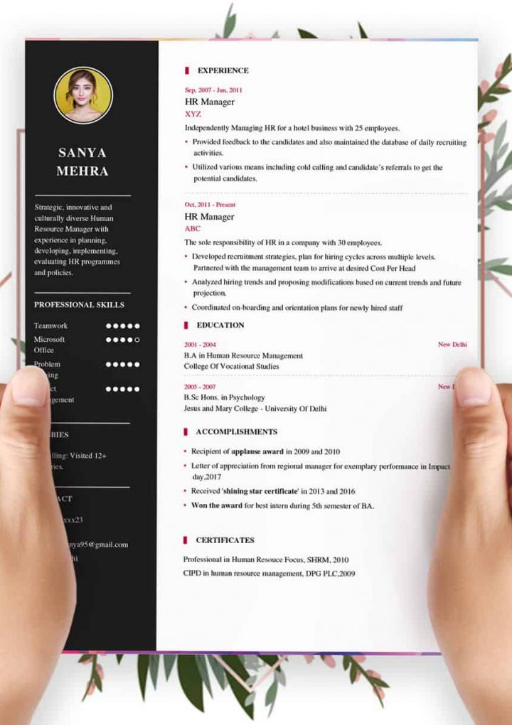 Resume builder- no need to have any technical knowledge